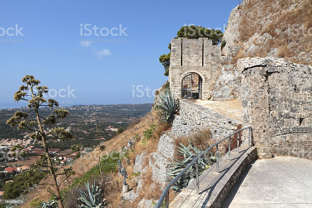 Kastro Agiou Georgiou, Kefallonia, Ionian Islands, Greece stock photo