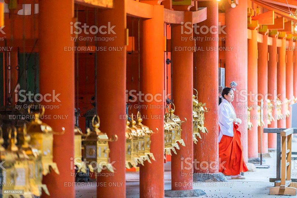 Kasuga Taisha Shrine's suspended lanterns ストックフォト
