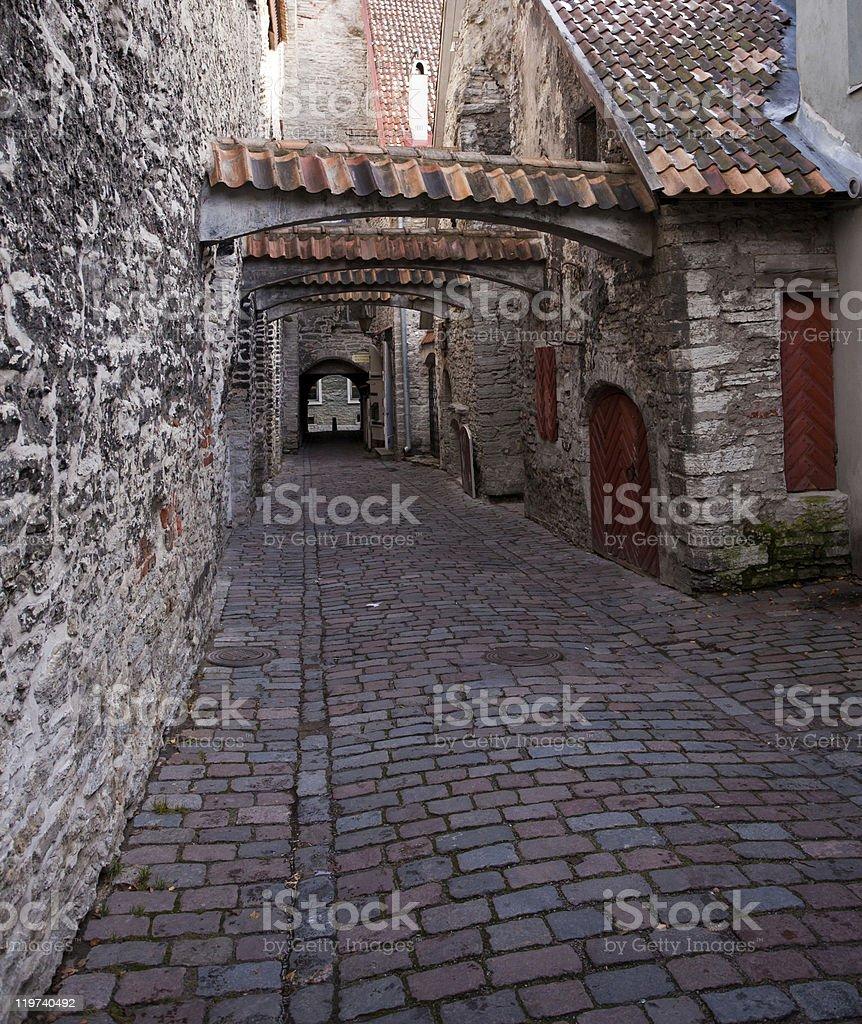 Katarina street in Tallinn royalty-free stock photo