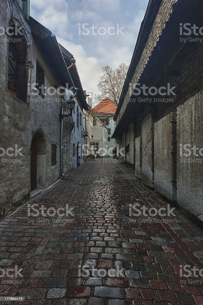 Katarina street in Tallinn royalty-free stock photo