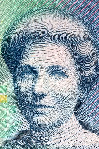 Kate Sheppard a portrait Kate Sheppard a portrait from New Zealand money women's suffrage stock pictures, royalty-free photos & images