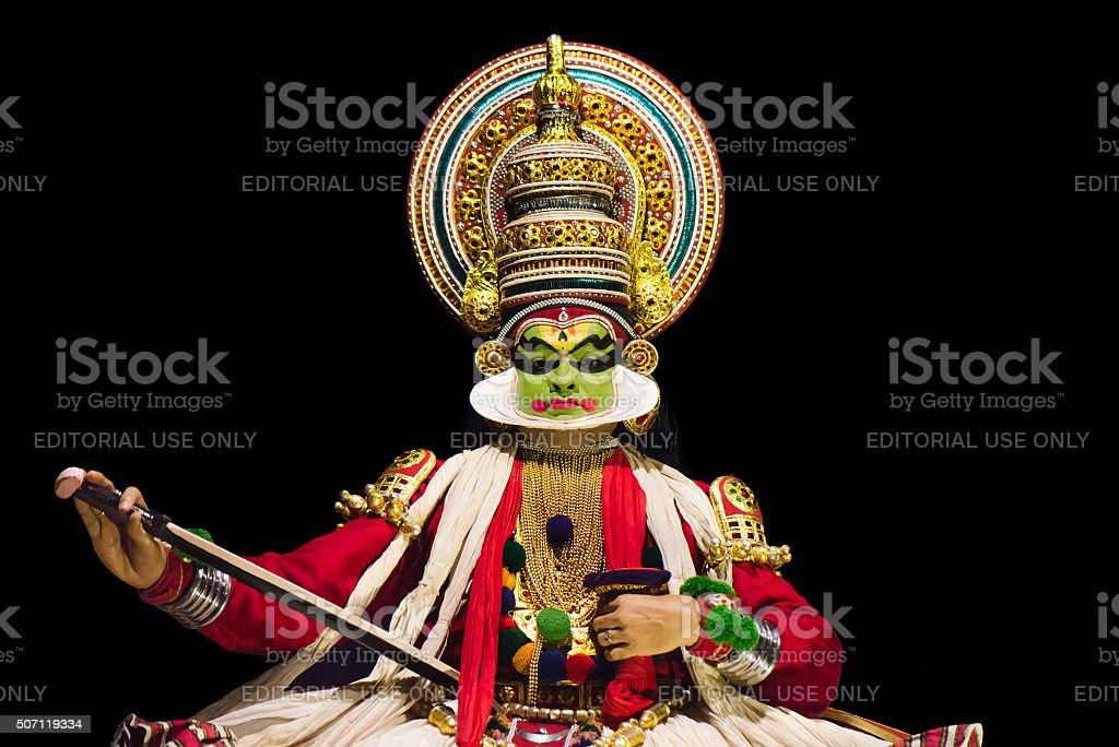 Kathakali actor stock photo