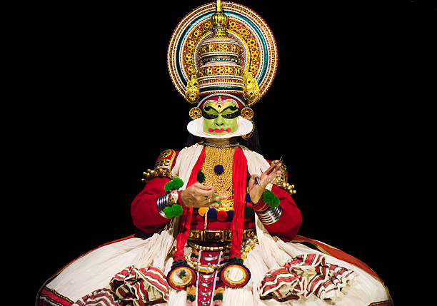 kathakali actor - classical style stock photos and pictures