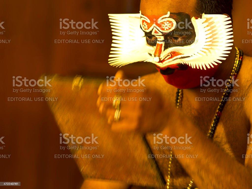 Kathakali artist stock photo