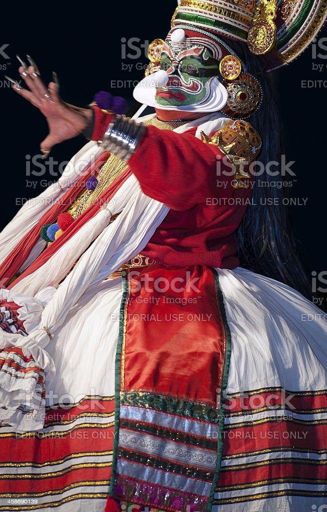 Kathakali, classical dancer, Kannur, Kerala, India stock photo