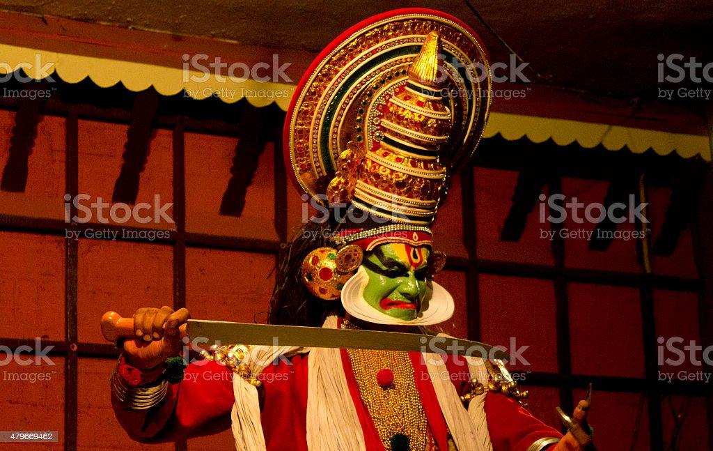 Kathakali Dance. Kerala's Classical dance, Shot at Ernakulam , Kerala. 2015 Stock Photo