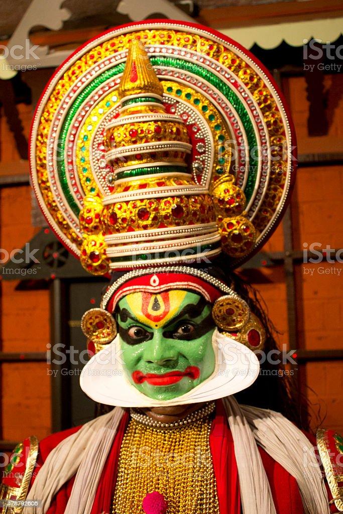 Kathakali dancer, Classical dance of Kerala India stock photo