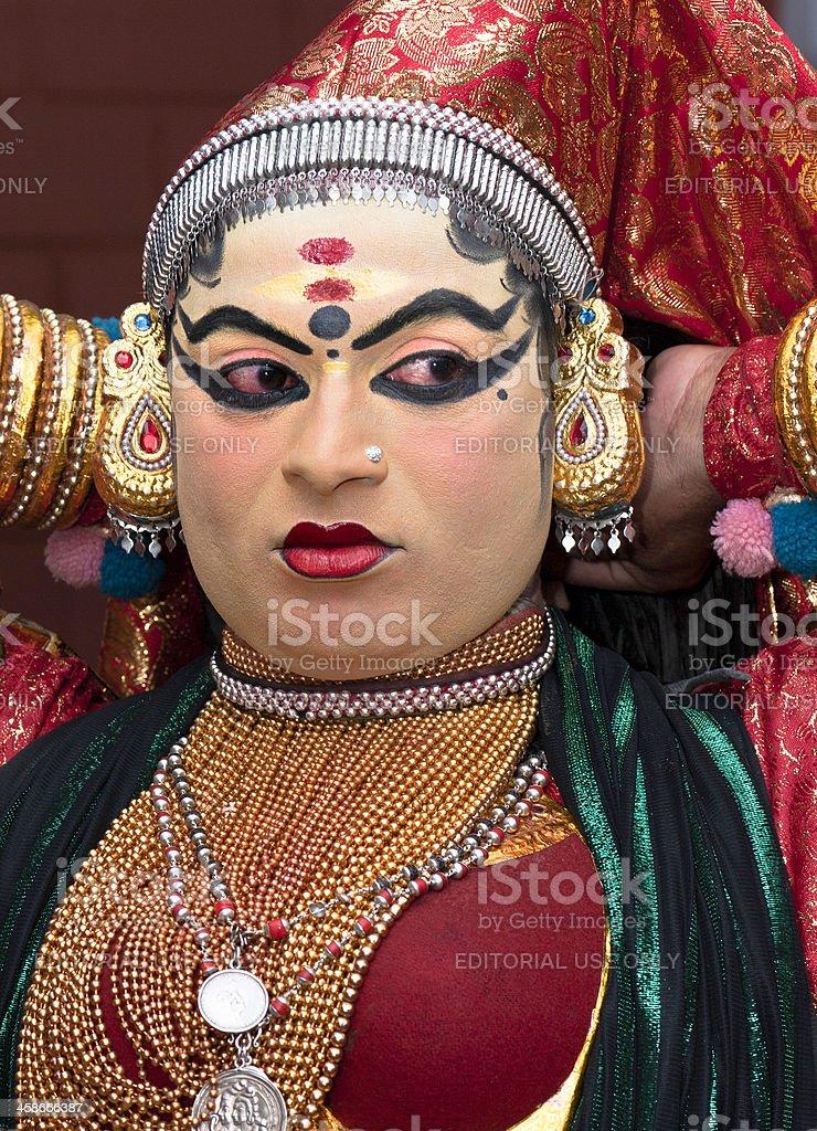 Kathakali, dancer, Kannur, Kerala, India stock photo