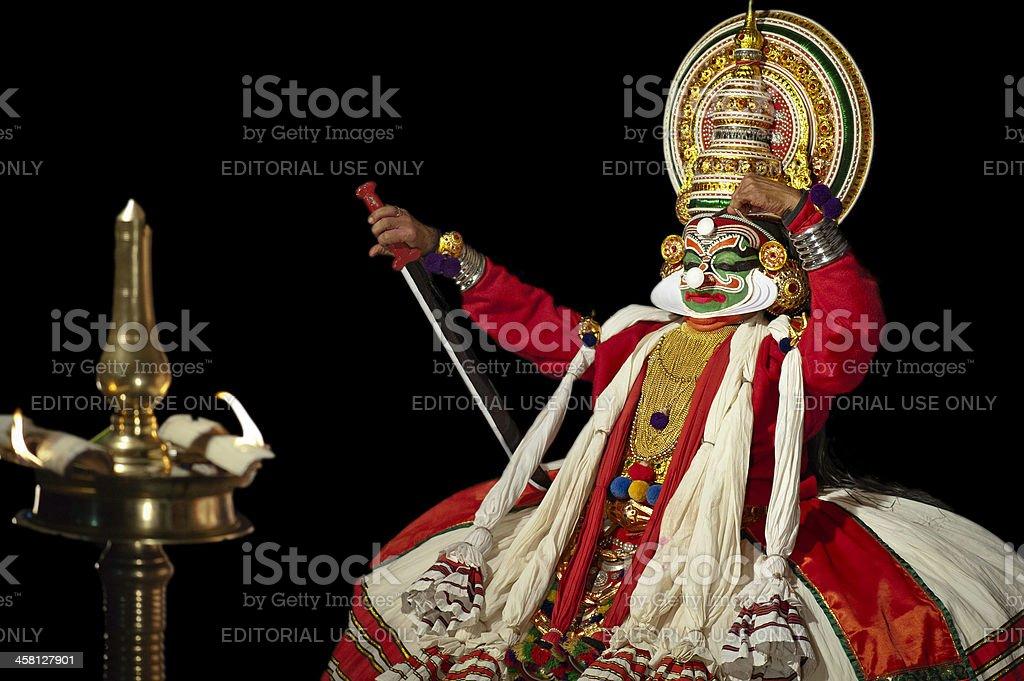 Kathakali performer, Kannur, Kerala, India stock photo