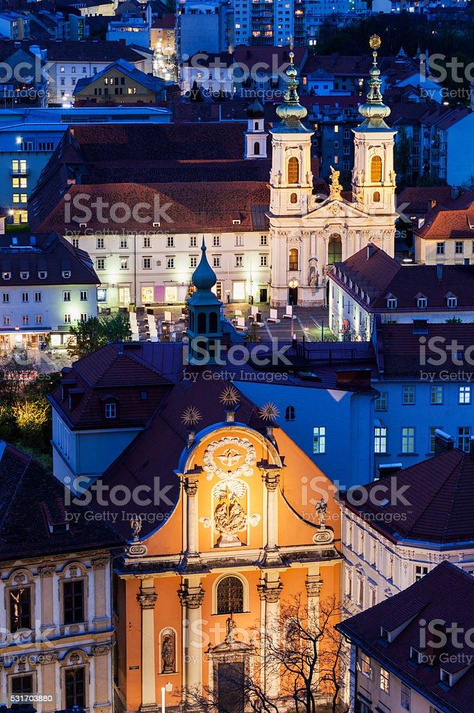 Katharinenkirche stock photo