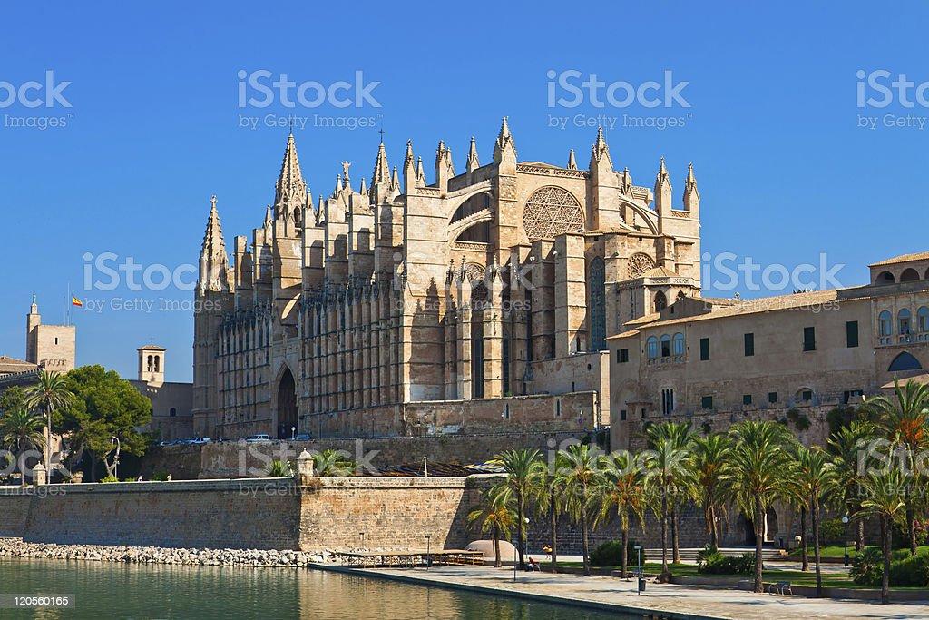 Kathedrale La Seu Palma de Mallorca royalty-free stock photo