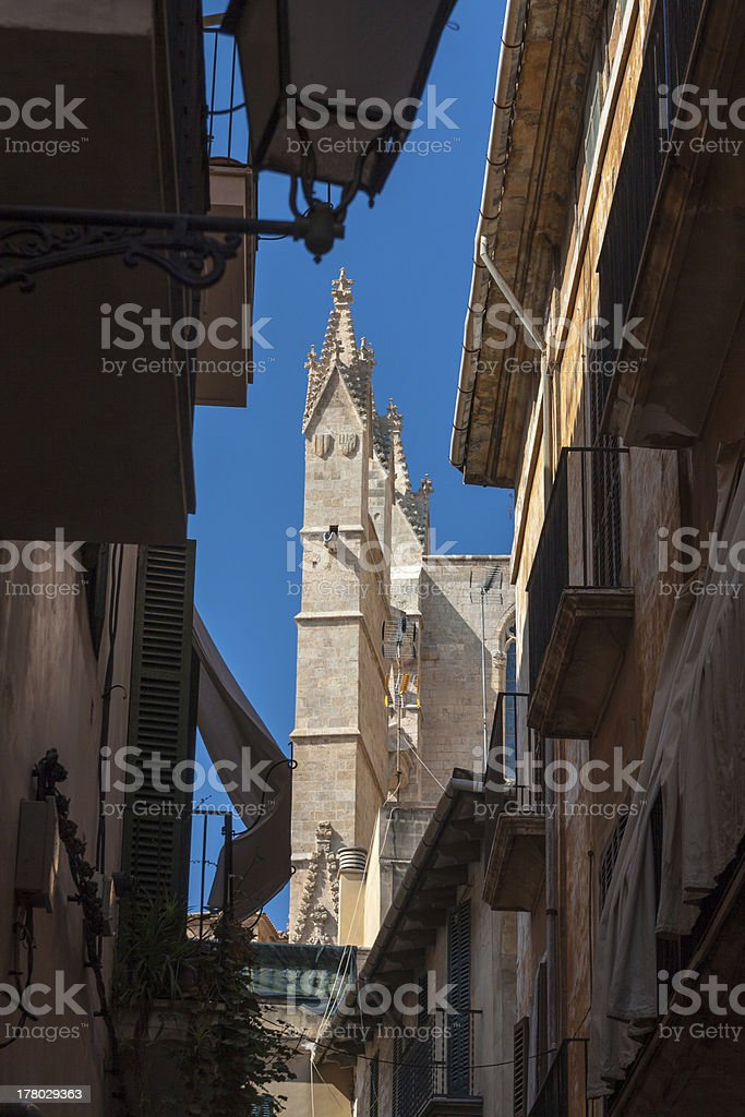 Kathedrale La Seu Palma de Mallorca stock photo