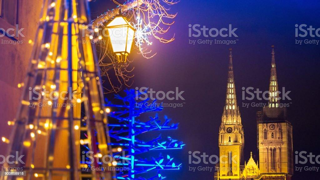 Kathedrale von Zagreb bei Nacht – Foto