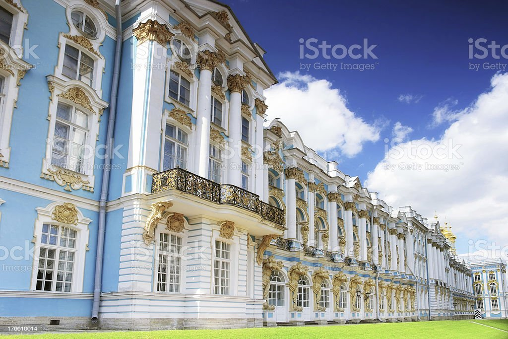 Katherine's Palace hall in Tsarskoe Selo royalty-free stock photo