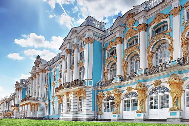 katherine's palace hall in tsarskoe selo (pushkin). - sint petersburg rusland stockfoto's en -beelden