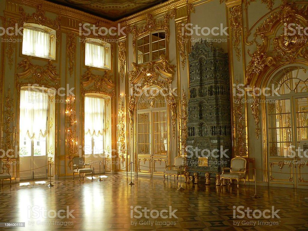 Katherine's Palace hall royalty-free stock photo