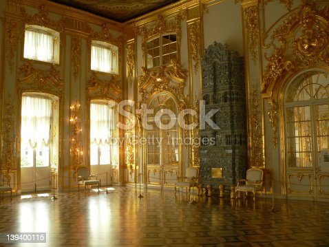 Katherine's Palace hall in Tsarskoe Selo (Pushkin), Russia.