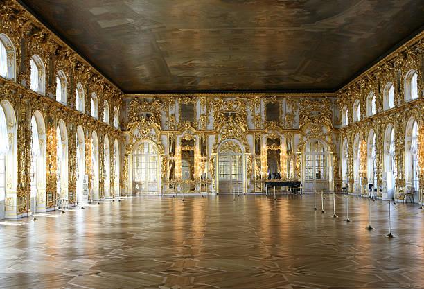 katherines palace, pushkin, russia - sint petersburg rusland stockfoto's en -beelden