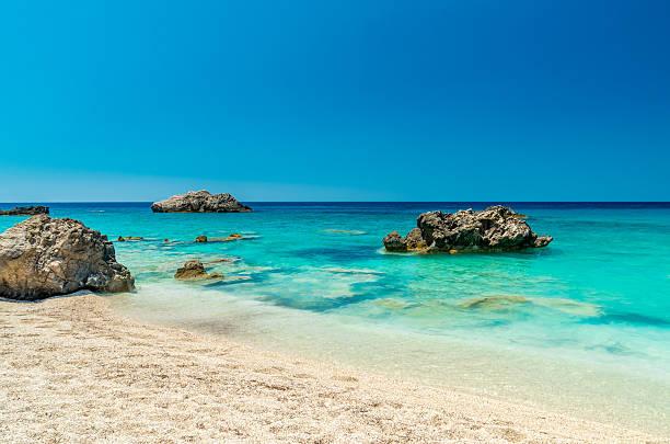 Kathisma Strand, Insel Lefkada, Griechenland. – Foto