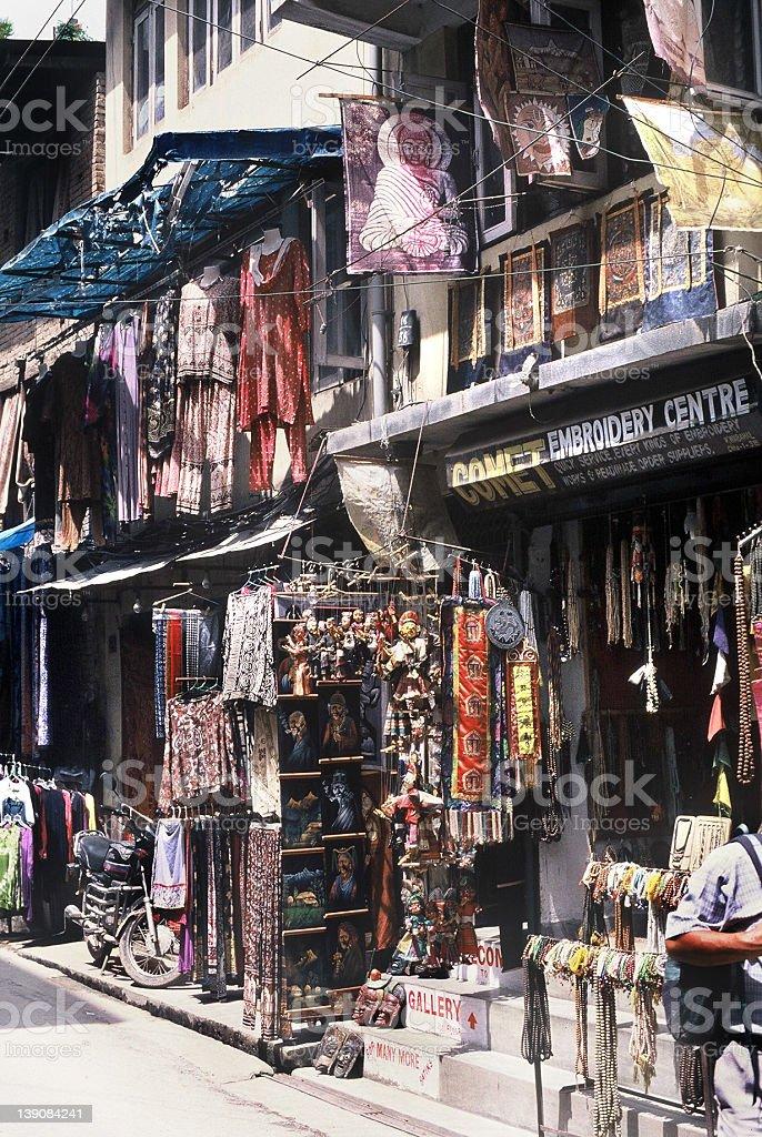 Kathmandu - A Cluttered Shop royalty-free stock photo