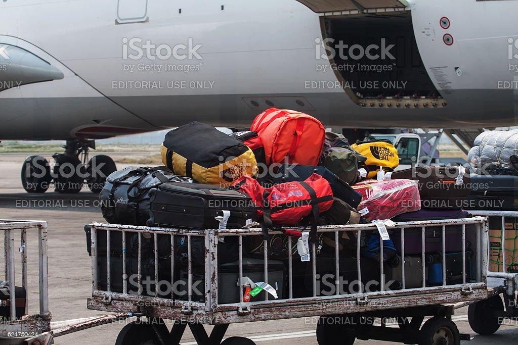 Kathmandu airport stock photo