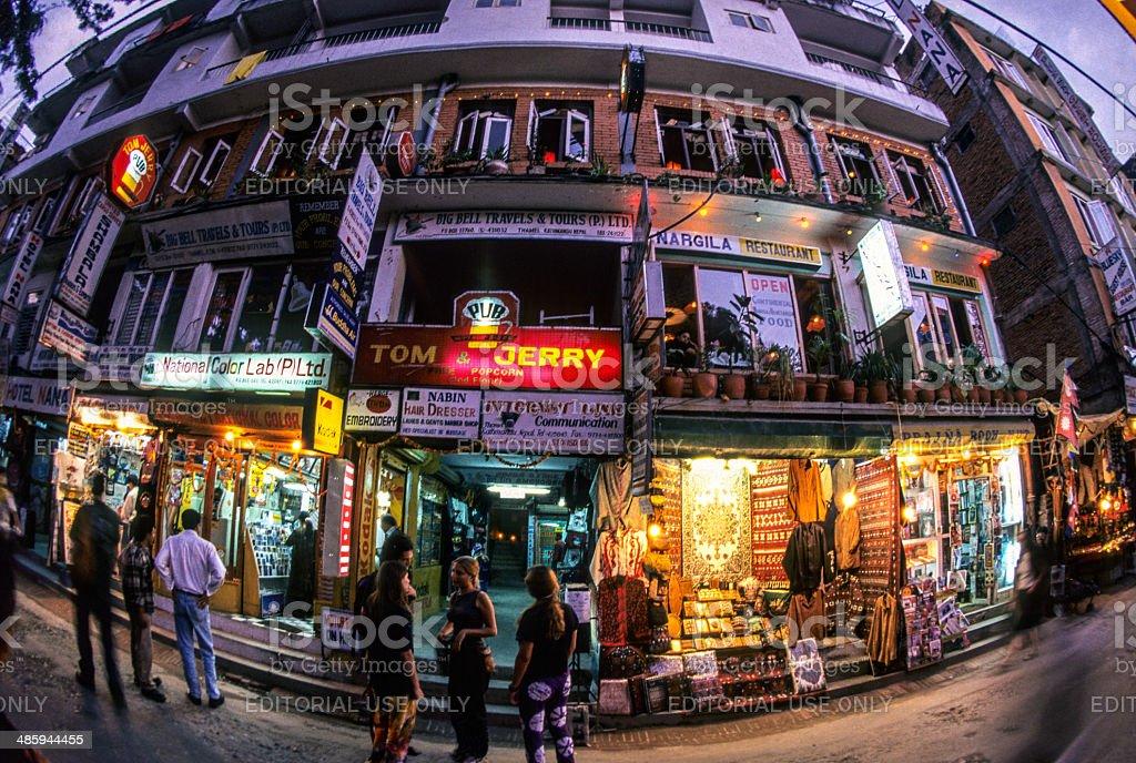 Kathmandu, Central, Nepal, Thamel District. stock photo