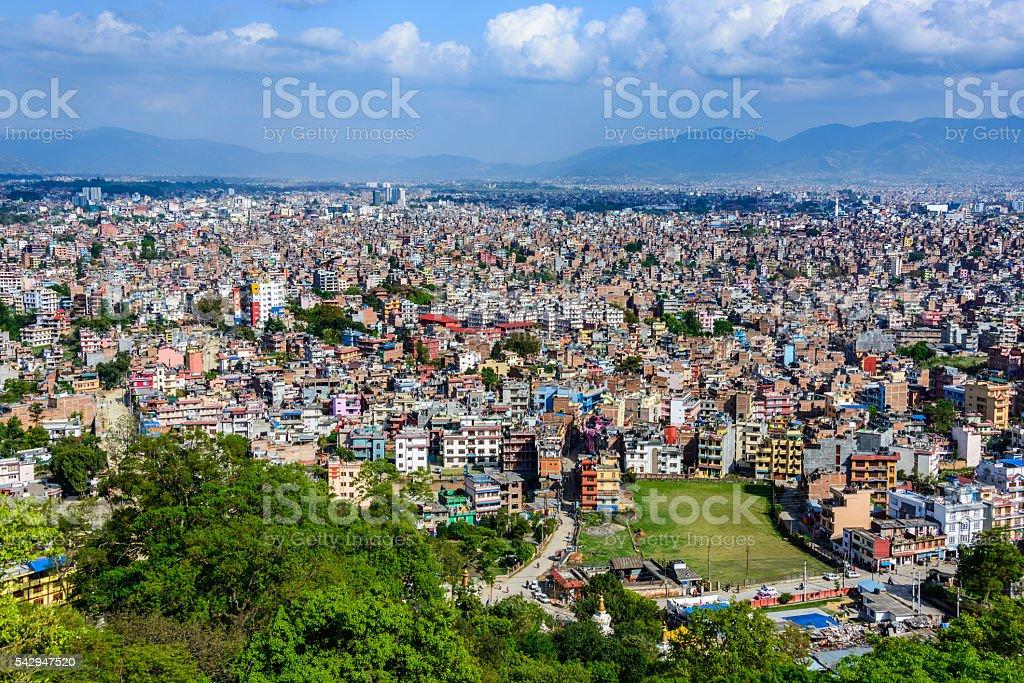 Kathmandu city in Nepal stock photo