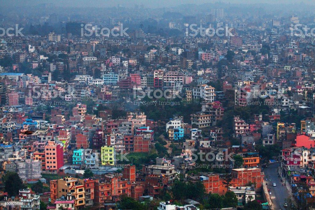 Kathmandu city stock photo