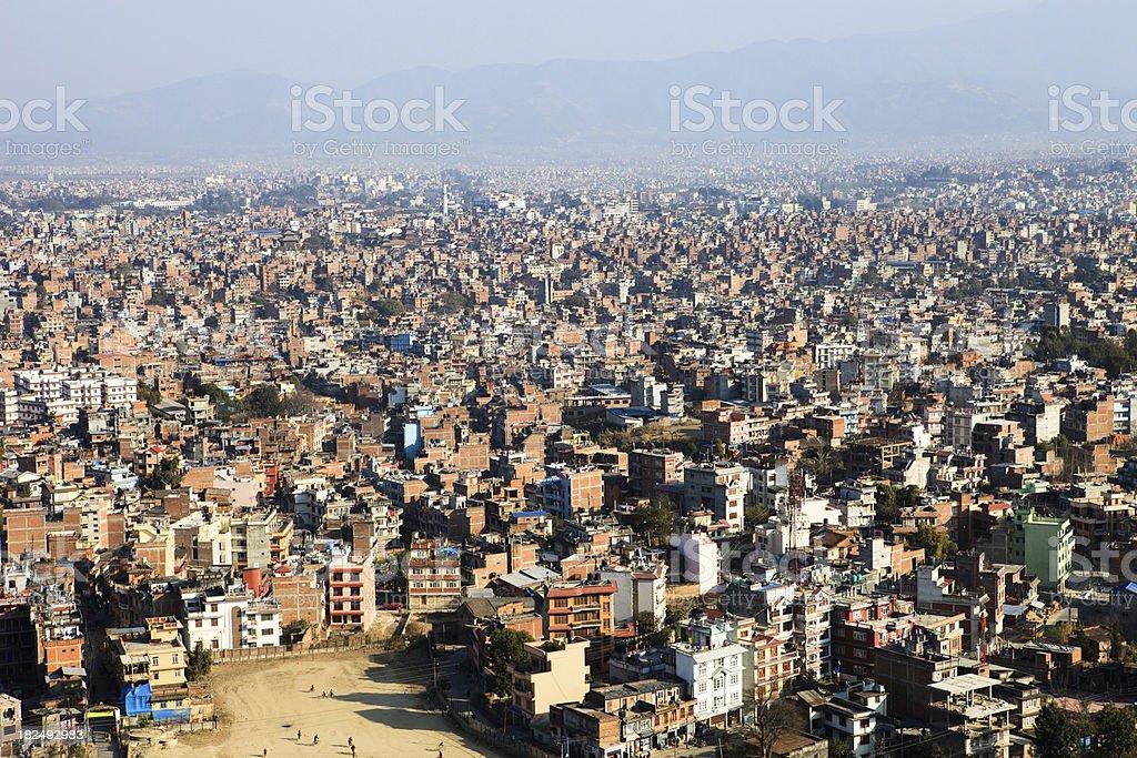 kathmandu city view royalty-free stock photo