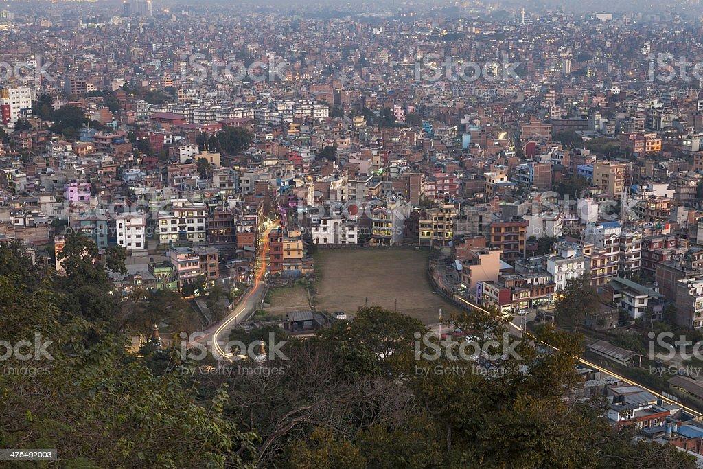 Kathmandu cityscape. stock photo