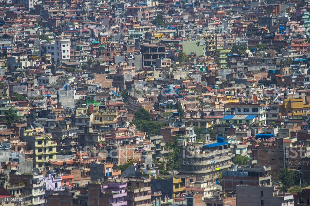Kathmandu Cityscape, Zoomed In stock photo