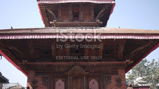 Kathmandu, Nepal - January 19, 2010: Kathmandu durbar square. the heritage in the durbar square are totally destoryed after a magnitude-7.8 earthquake hit Nepal on 25 April 2015.