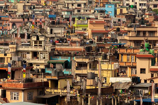 kathmandu from above - ayuda humanitaria fotografías e imágenes de stock