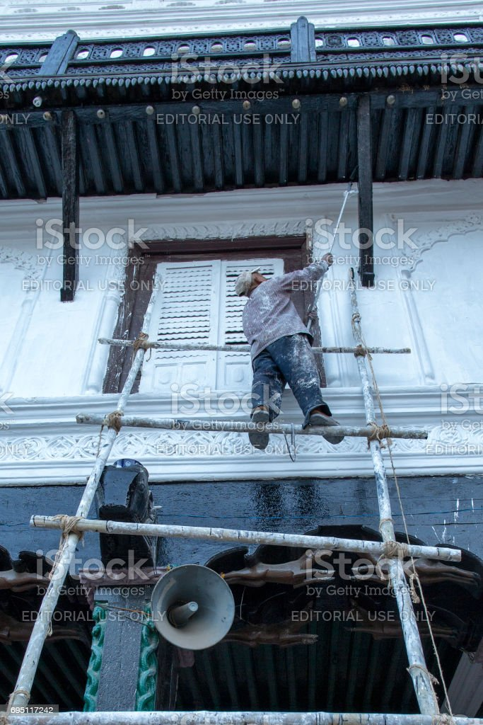 Kathmandu painter stock photo