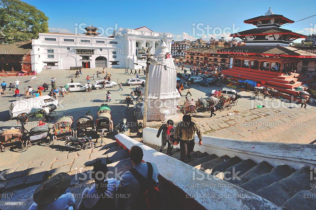 Kathmandu street market royalty-free stock photo