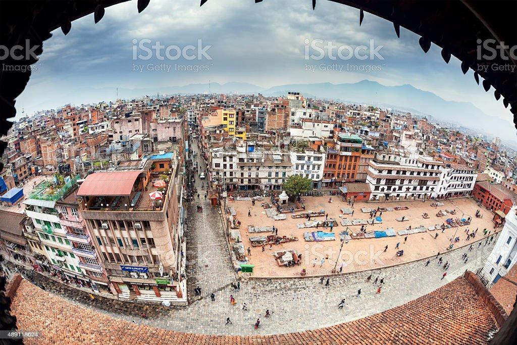 Kathmandu view stock photo
