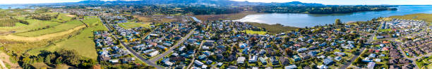 Katikati Aerial View stock photo