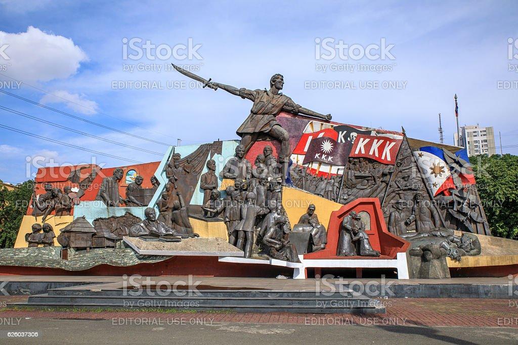 Katipunan (abbreviated to KKK) monument in Manila, Philippines stock photo