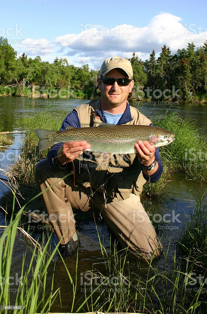 Katmai RainBow Trout royalty-free stock photo
