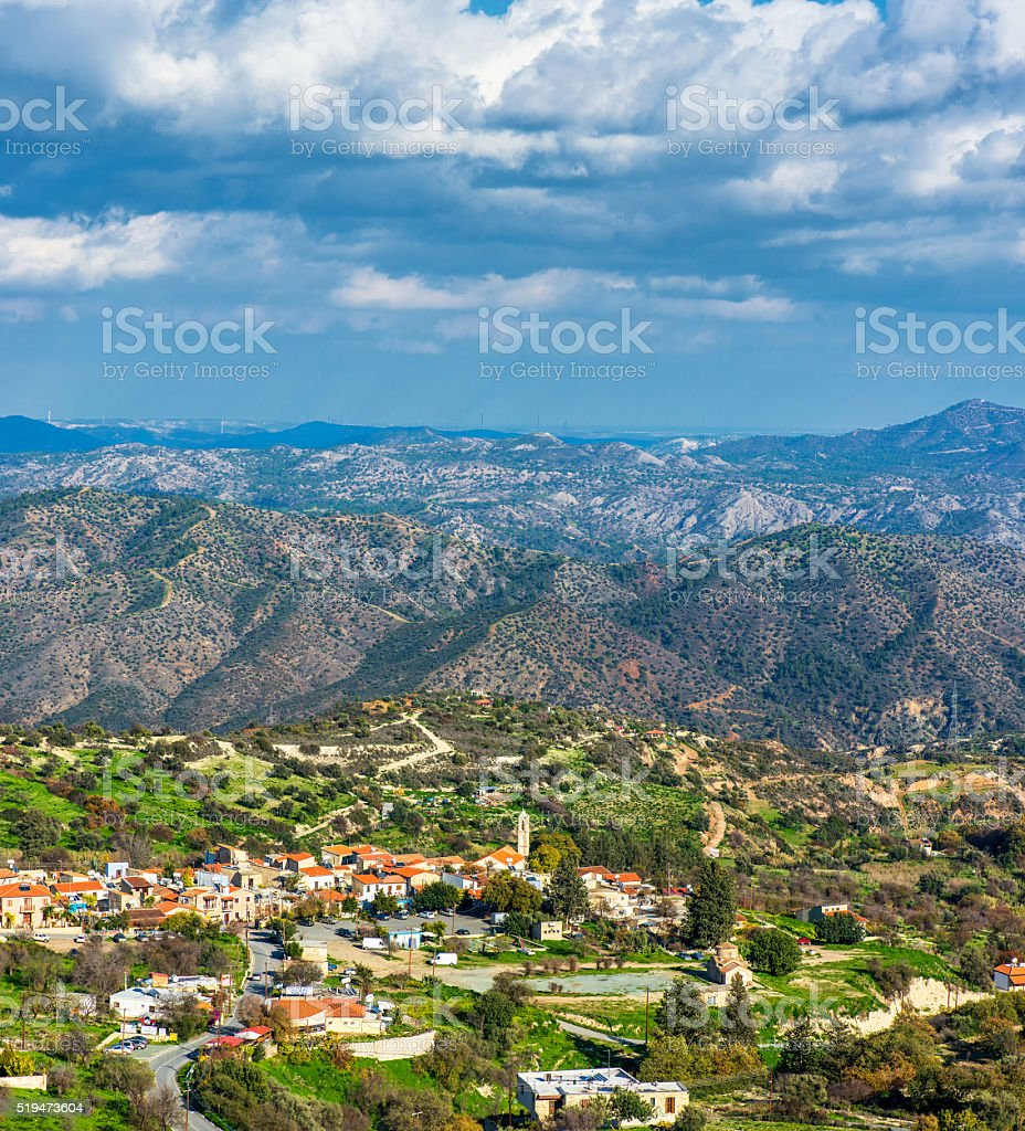 Kato Lefkara village. Limassol District, Cyprus stock photo