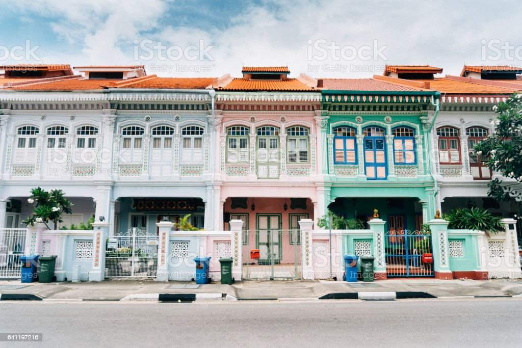 Katong district in Singapore stock photo