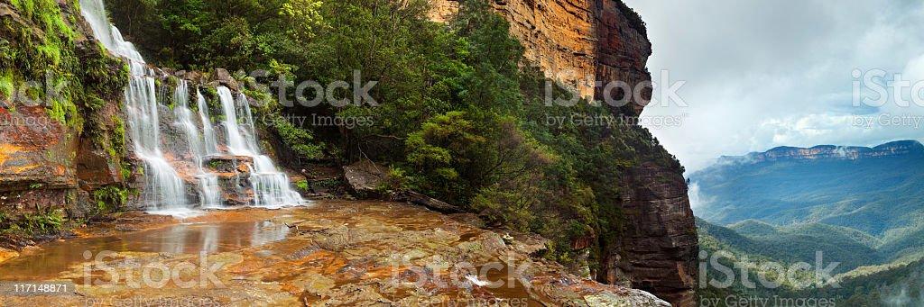 Katoomba Falls in the Blue Mountains, New South Wales, Australia stock photo