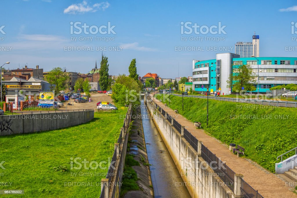 Katowice, Poland - view of water channel crossing the city royalty-free stock photo
