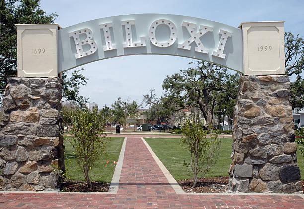 Katrina Memorial Entrance stock photo