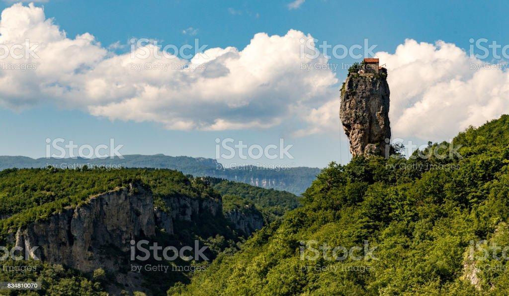 Katskhi Pillar outside Kutasi, Georgia stock photo