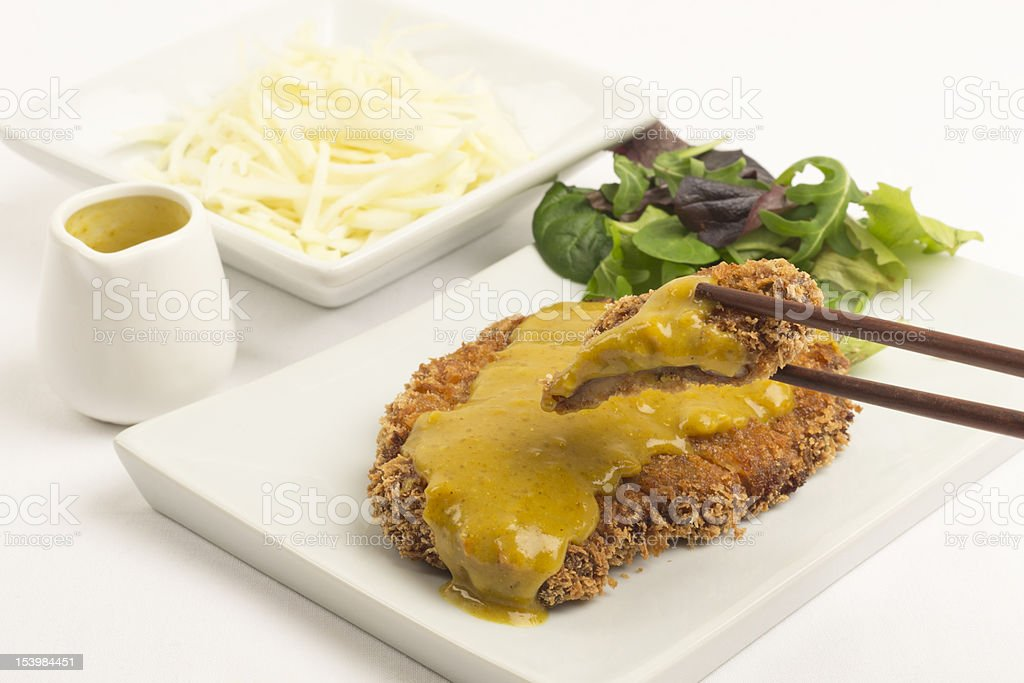 Katsu Karē (カツカレー) royalty-free stock photo