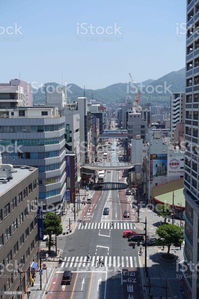 小倉区勝山通り。 ストックフォト