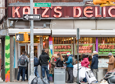 Katzs Deli In The Lower East Side Of Manhattan In New York City Stock Photo - Download Image Now