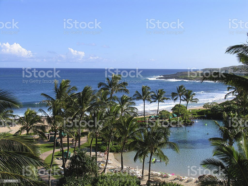 Kauai Beach royalty-free stock photo