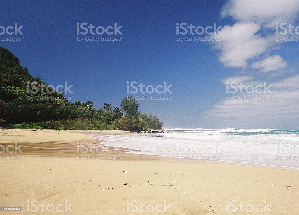 Kauai Hawaii beach scene royalty-free stock photo